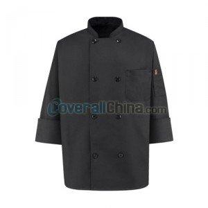 black chef coats