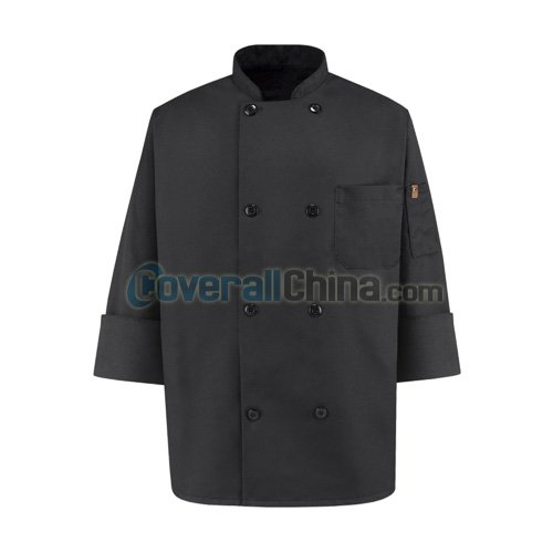black chef coats- CC007