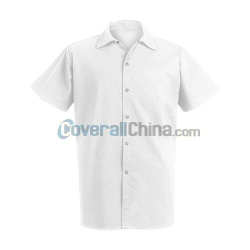 white cook shirt- CC003