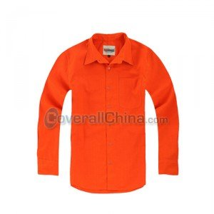 orange color work shirts